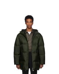 Prada Green Down Long Jacket