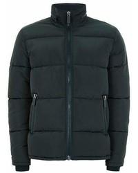 Topman Dark Green Puffer Jacket