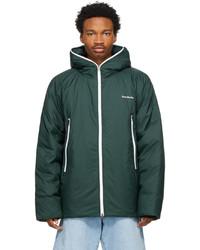 Acne Studios Green Down Hooded Jacket
