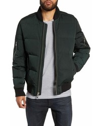 The Very Warm Vandal Down Feather Fill Quilted Bomber Jacket