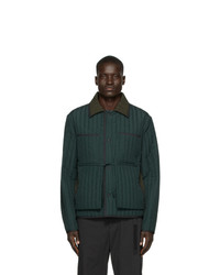 Dark Green Quilted Barn Jacket