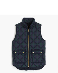 J.Crew Petite Black Watch Excursion Quilted Vest