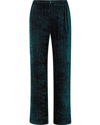 F.R.S For Restless Sleepers Etere Quilted Velvet Straight Leg Pants