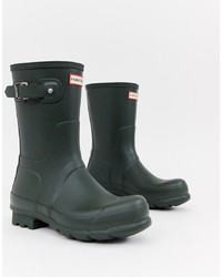 Dark Green Rain Boots