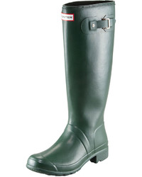 Hunter Boot Original Tour Buckled Welly Boot Green