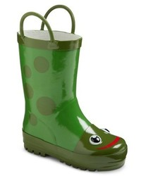 Western Chief Toddler Kids Frog Rain Boots Green