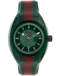 Gucci Sync Transparent Rubber Strap Watch 46mm