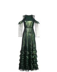 Huishan Zhang Layered Pleated Dress