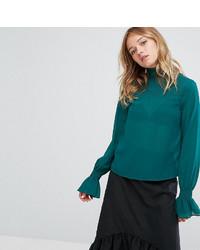 Ruffle neck and sleeve blouse medium 6716958