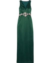 Azalea embellished satin gown medium 968976