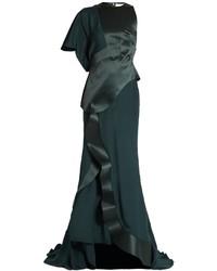 Esteban cortzar panelled asymmetric satin gown medium 968973