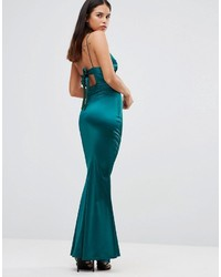 17755f39dac ... Club L Satin Cami Strap Tie Back Maxi Dress