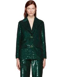 Ashish Green Sequin Blazer