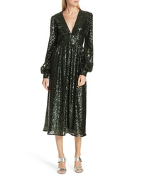 Saloni Sequin Midi Dress