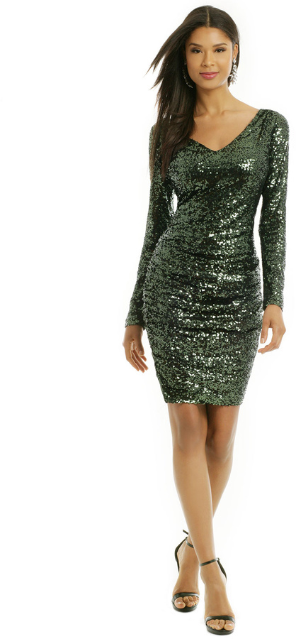 Badgley Mischka Sequin Shamrock Dress  Where to buy &amp how to wear