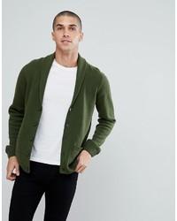 Lambswool shawl cardigan in lime green medium 6873259