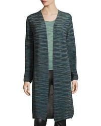 Long space dyed lurex duster teal medium 843858