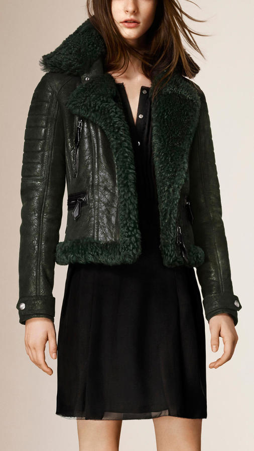 Burberry Brit Shearling Biker Jacket | Where to buy & how to wear