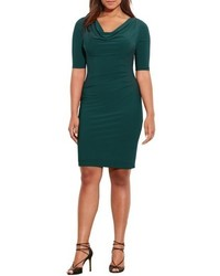 Lauren Ralph Lauren Plus Size Carleton Cowl Neck Jersey Dress