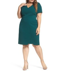 Vince Camuto Plus Size Scuba Crepe Sheath Dress