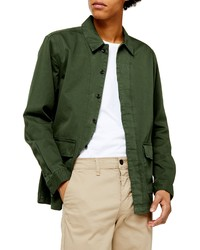 Dark Green Shirt Jacket