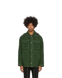 AMI Alexandre Mattiussi Green Patch Pockets Jacket