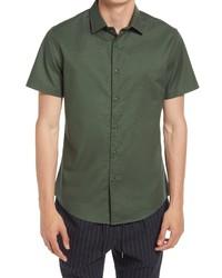 Open Edit Short Sleeve Stretch Oxford Button Up Shirt