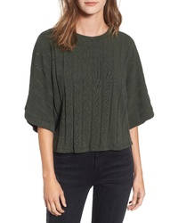 ALL IN FAVO R Dolman Sleeve Rib Top