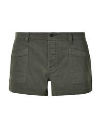 J Brand Brona Cotton Blend Twill Shorts