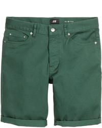 H&M Twill Shorts Slim Fit