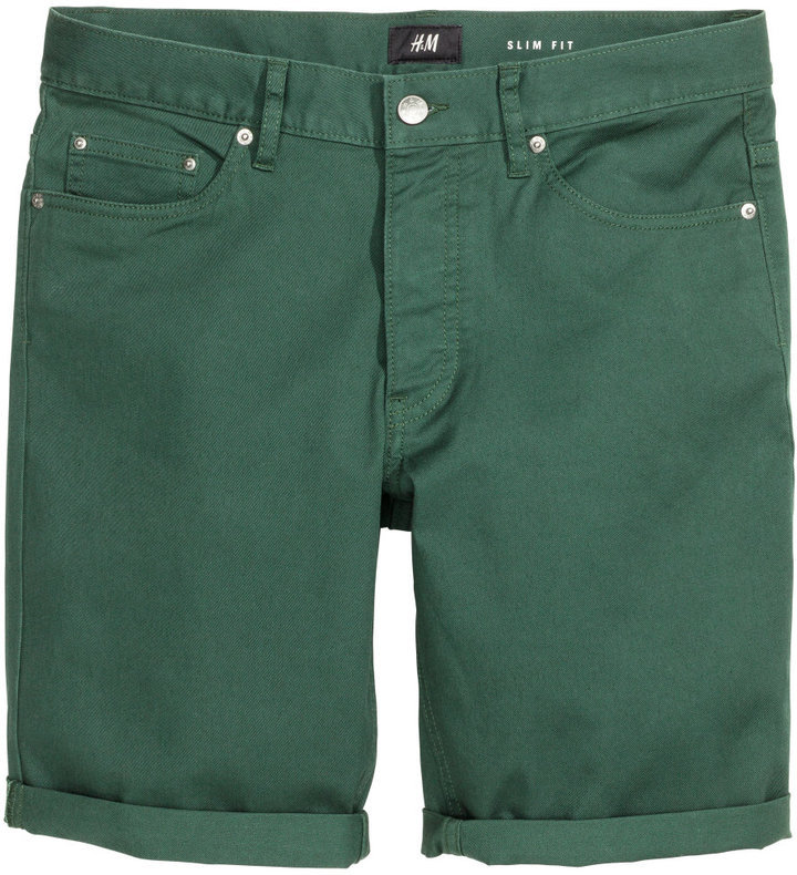 H&M Twill Shorts Slim Fit | Where to buy & how to wear