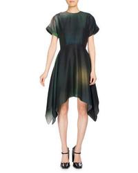 Kenzo Soft Flare Dress Short Sleeve Dress Olive