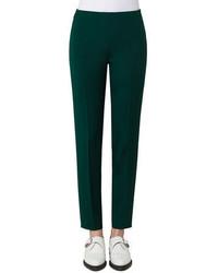 Akris Melissa Silk Crepe Slim Fit Pants