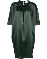 Gianluca capannolo pleated neck shift dress medium 762504