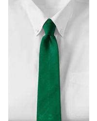 Lands' End Long Solid Silk Repp Necktie Rich Red