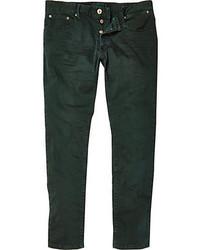 Dark Green Skinny Jeans for Men   Men's Fashion