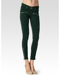 Jane zip ultra skinny forest green corduroy medium 193697