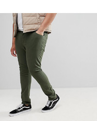 ASOS DESIGN Plus Super Skinny Jeans In Green
