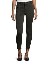 DL1961 Premium Denim No 2 Super Skinny Ultra High Rise Ankle Jeans Grassland