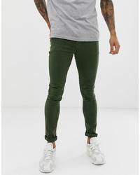 ASOS DESIGN Super Skinny Jeans In Green