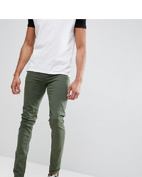 ASOS DESIGN Tall Skinny Jeans In Green