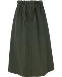 MM6 MAISON MARGIELA Drawstring Waist Mid Length Skirt