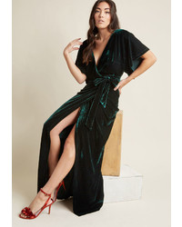 Collectif silver screening velvet maxi dress in xl medium 6697890