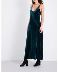 V neck velvet maxi dress medium 6697889