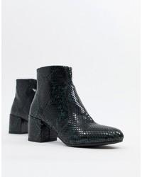 New Look Snake Effect Block Heel Boot Pattern