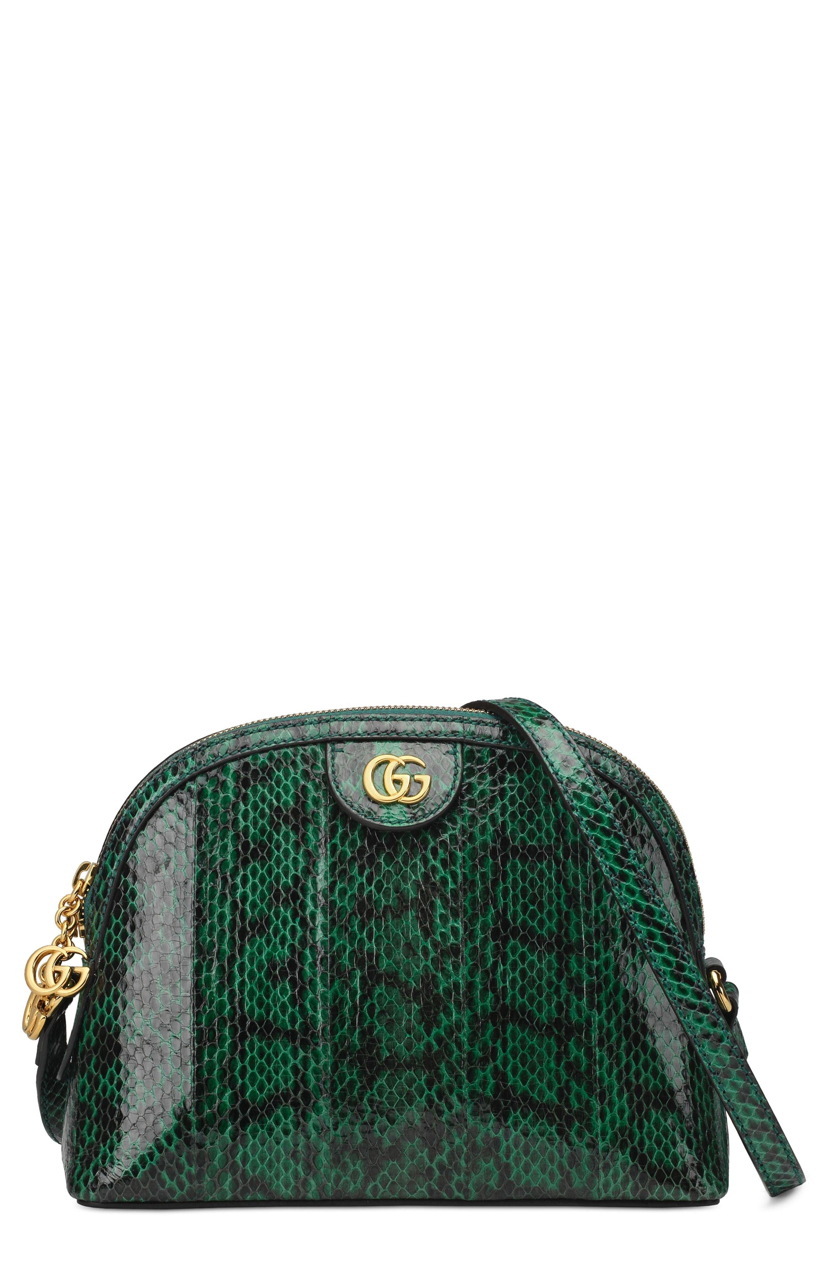 17c332811e384c Gucci Small Ophidia Genuine Snakeskin Dome Satchel, $3,300 ...