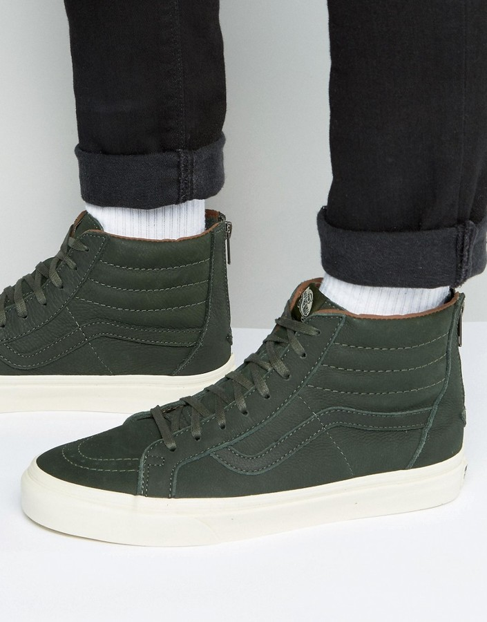 753b01922c ... Dark Green Sneakers Vans Sk8 Hi Reissue Zip Dx Sneakers In Green  Va349am35 ...