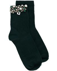 Twin-Set Embellished Beaded Socks