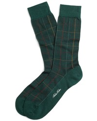 Brooks Brothers Multi Windowpane Crew Socks