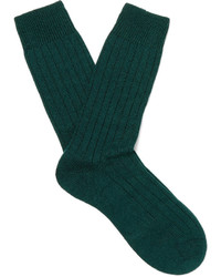 Pantherella Packington Ribbed Merino Wool Blend Socks